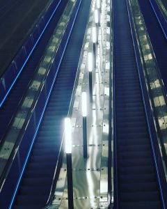 Escalator in the Jerusalem train station