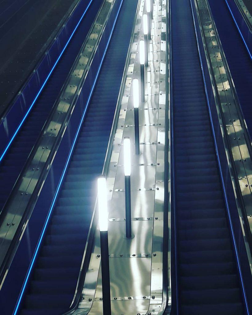 Escalator in the Jerusalem train station