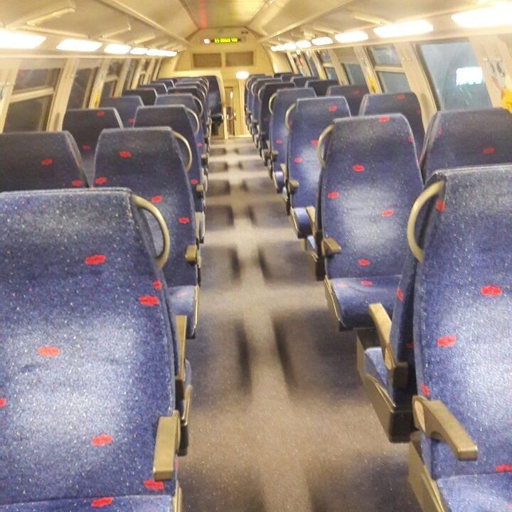 Inside Israel train