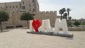 Jaffa Street And The Mamilla Mall